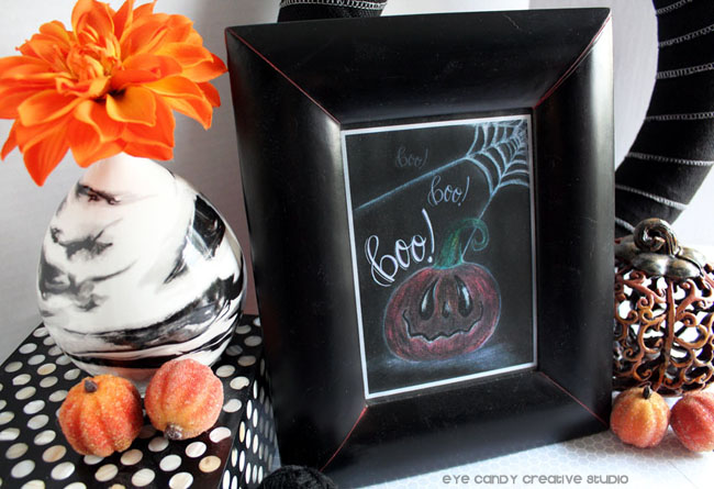 black & white halloween decor, halloween art print, free halloween art