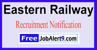 Eastern Railway Recruitment Notification 2017 Last Date 23-05-2017