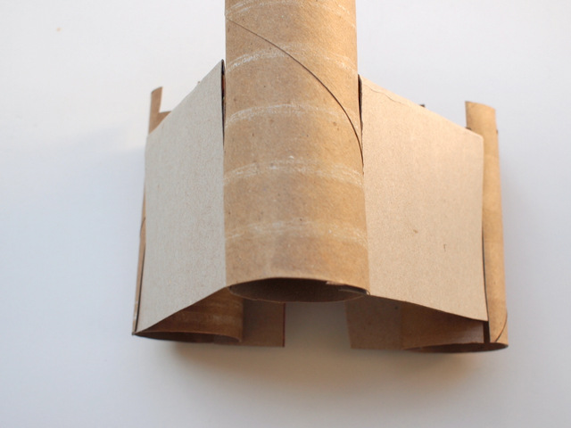 attach your cardboard walls to your cardboard towers