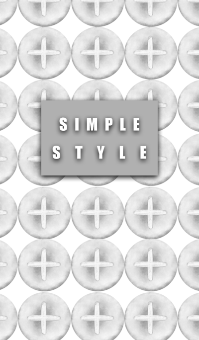 Simple style button gray