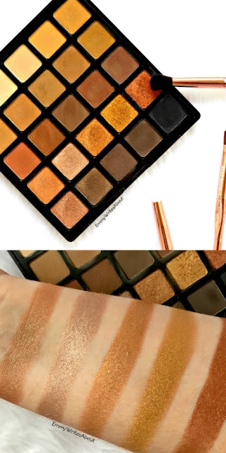 Morphe 25A Copper Spice Eyeshadow Palette Review