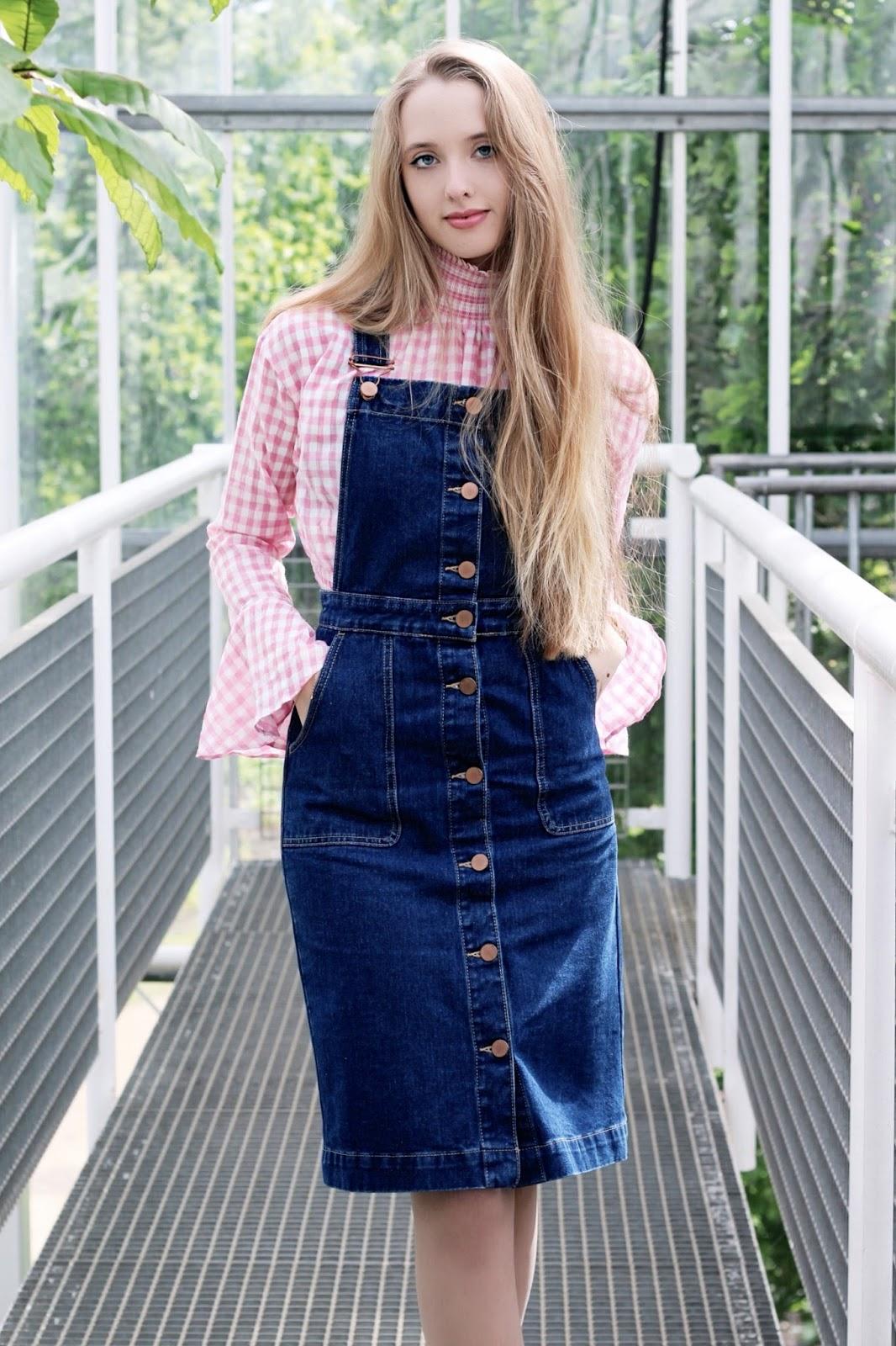 Oasis Blue Denim Pinafore Dress