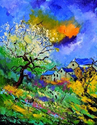 Verão - Cores fortes e vibrantes nas pinturas de Pol Ledent