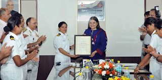 INSV Tarini Team Conferred Nari Shakti Puraskar 2017