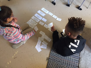 Picture of student completing sort and match activity for Problem Solving lesson