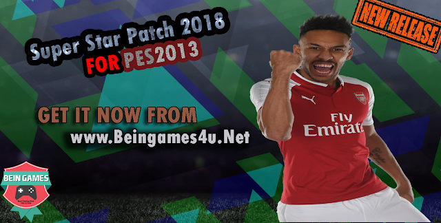 PES 2013 Super Star Patch Version 1.0 2018 By Beingames4u
