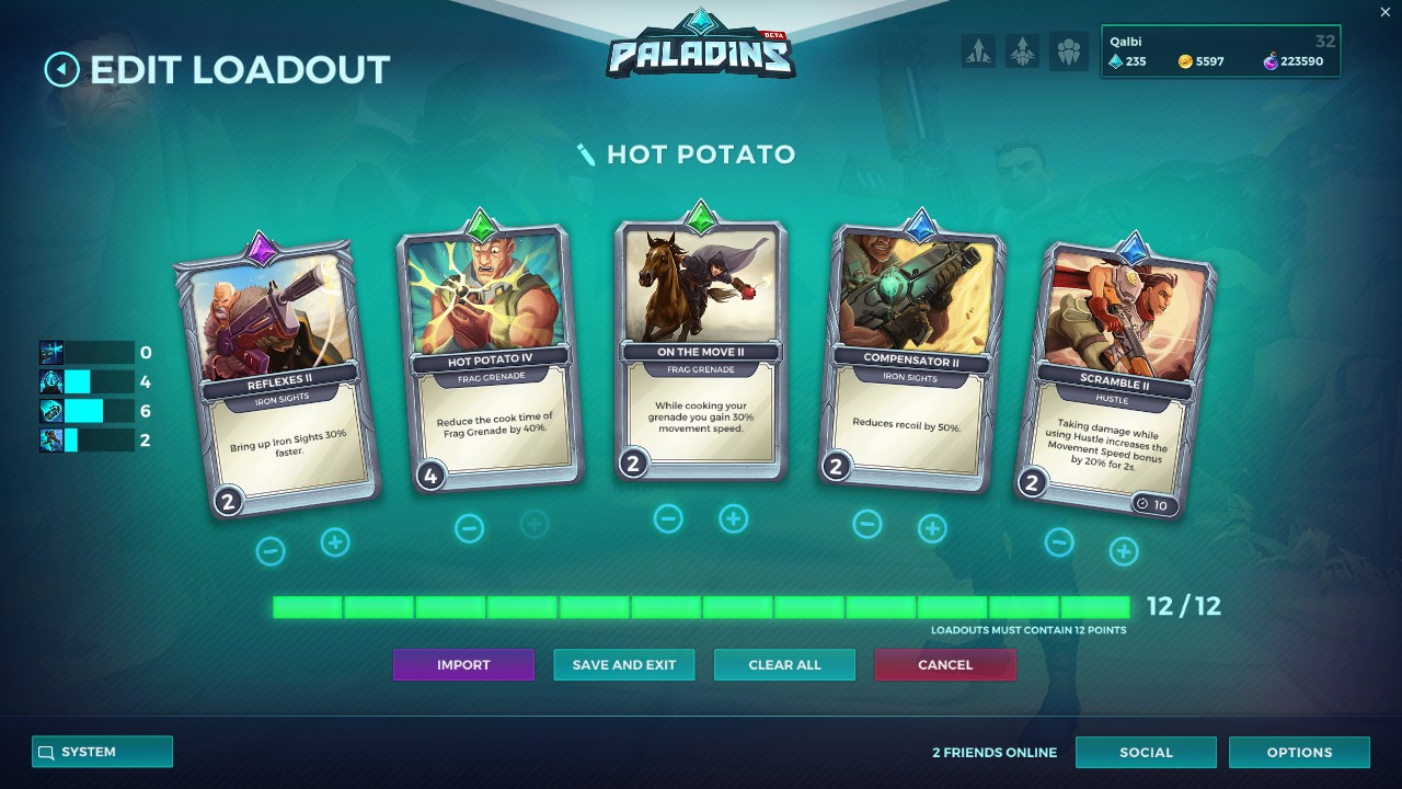paladins viktor cards hot potato