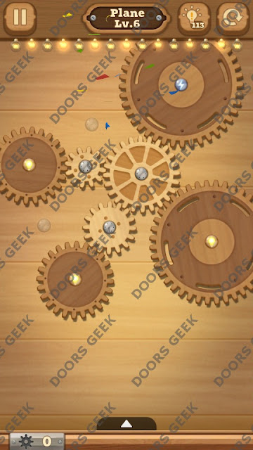 Fix it: Gear Puzzle [Plane] Level 6 Solution, Cheats, Walkthrough for Android, iPhone, iPad and iPod