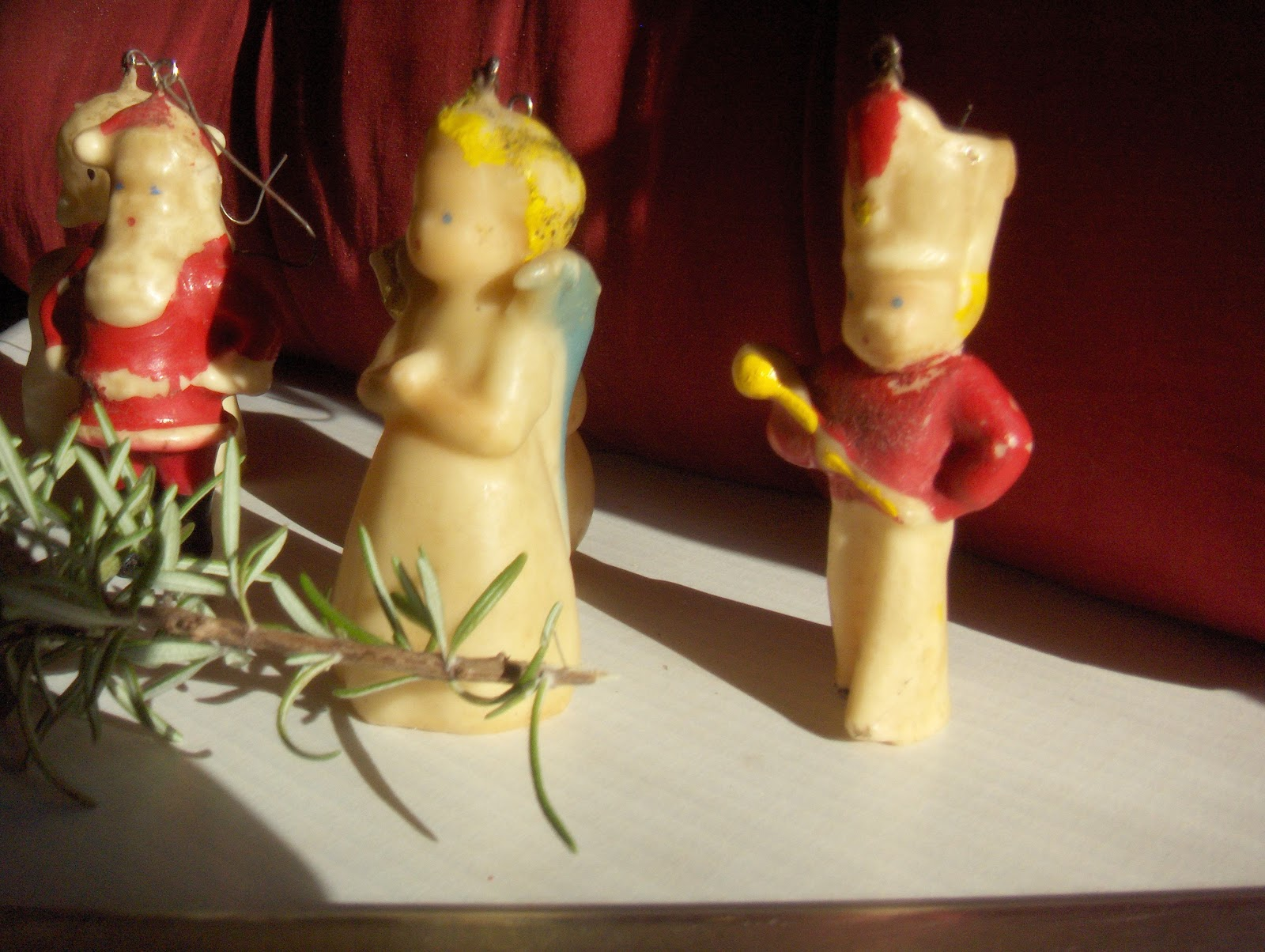 My Husband And Ie From Different Backgrounds And Styles The One Thing  We Had Inmon Was These Wax Christmas Ornaments From Our Grandmothers