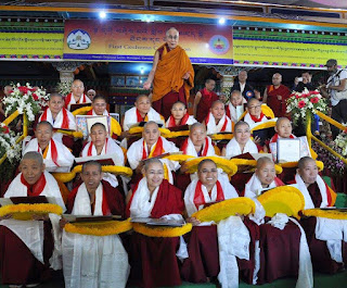 His Holiness the Dalai Lama Awards Historic Geshema Degree to Tibetan Buddhist Nuns