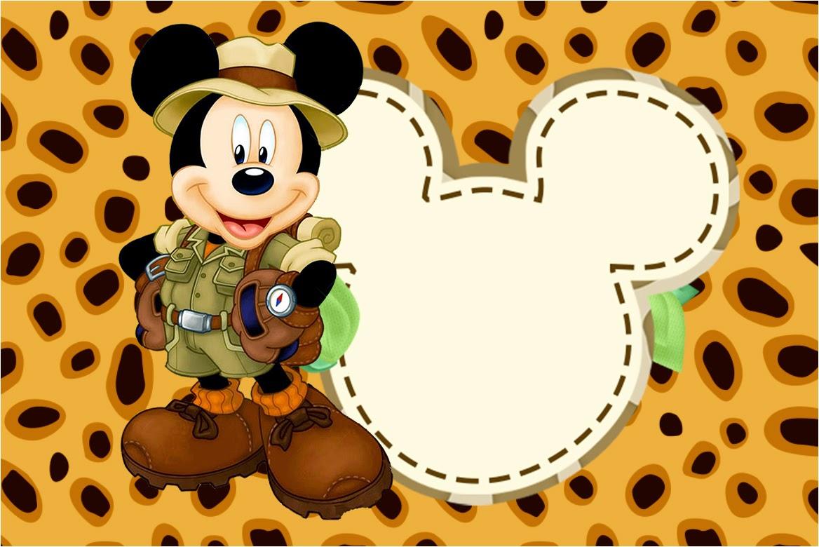 Kit Imprimible Gratis De Mickey Safari Sabor De Fiesta