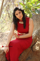 Telugu Actress Zahida Sam Latest Pos in Red Gown at RF Films New Movie Opening  0340.JPG