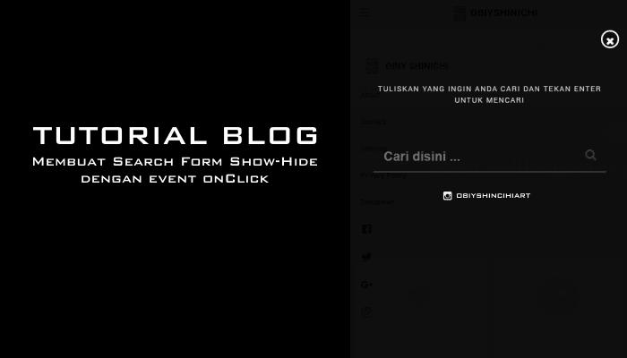 Membuat Search Form Show-Hide dengan event onClick