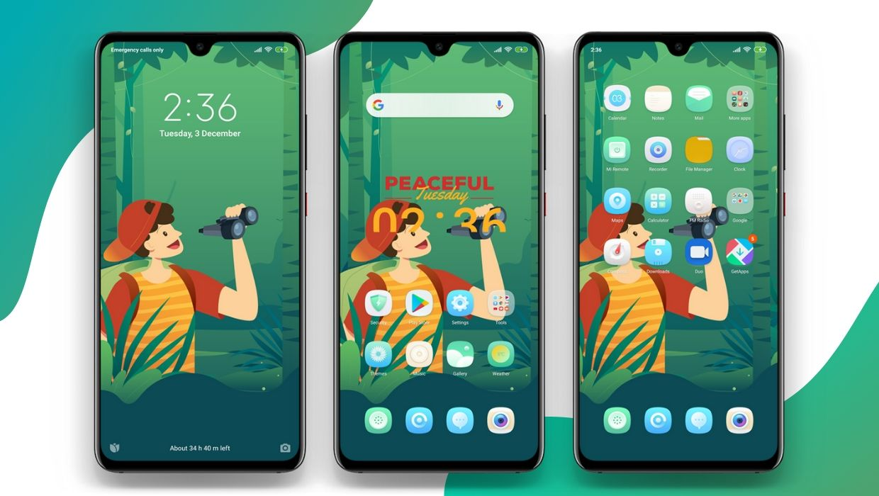 MWilderness MIUI 11 Theme for Xiaomi Redmi Devices