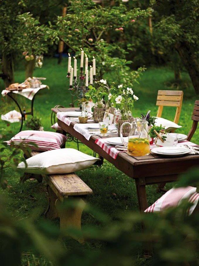 4 top tips for alfresco dining and styling http://www.archieandtherug.com/