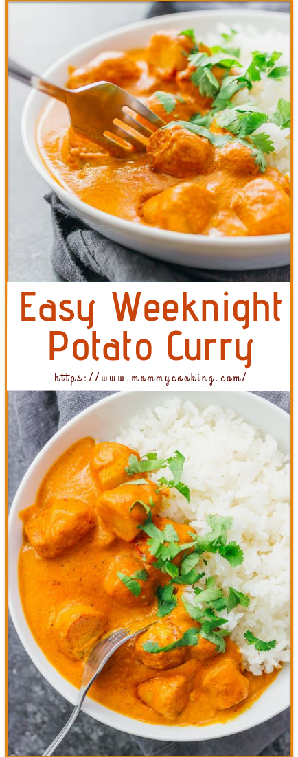 Easy Weeknight Potato Curry #healthy #recipe