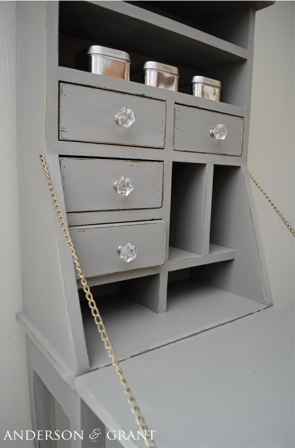 Desk Painted with Chalk Paint | www.andersonandgrant.com