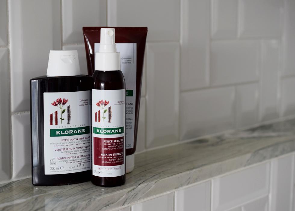 Klorane, shampoo, haircare, quinine, strenghten