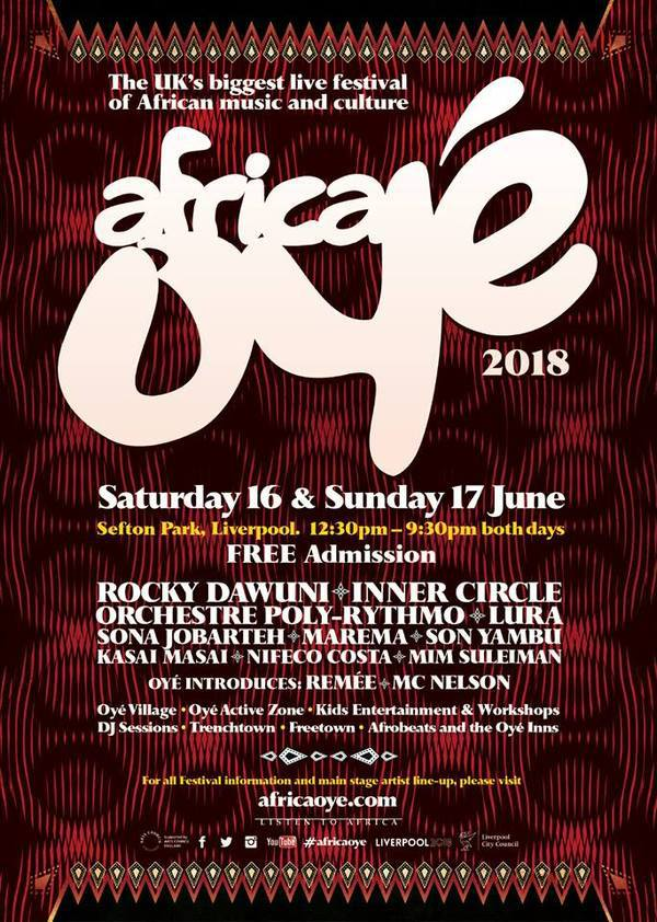 Rocky Dawuni Headlines Africa OYE' Festival on Saturday, June 16 in the UK