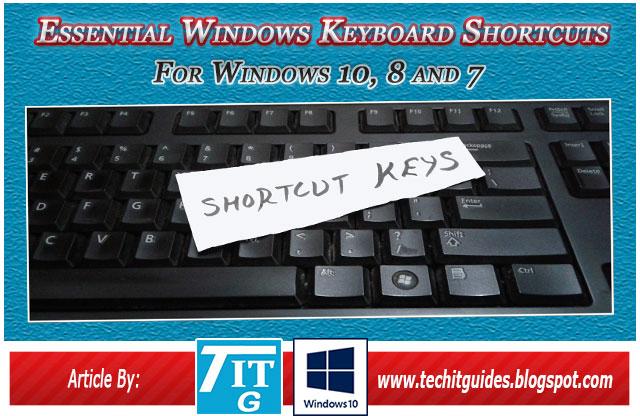 New Essential Windows 10 Keyboard Shortcuts.