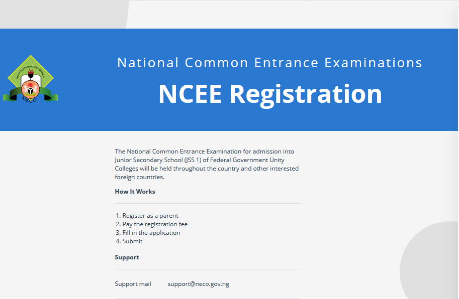 NCEE Form : 2021-2022 NCEE Registration Form is out