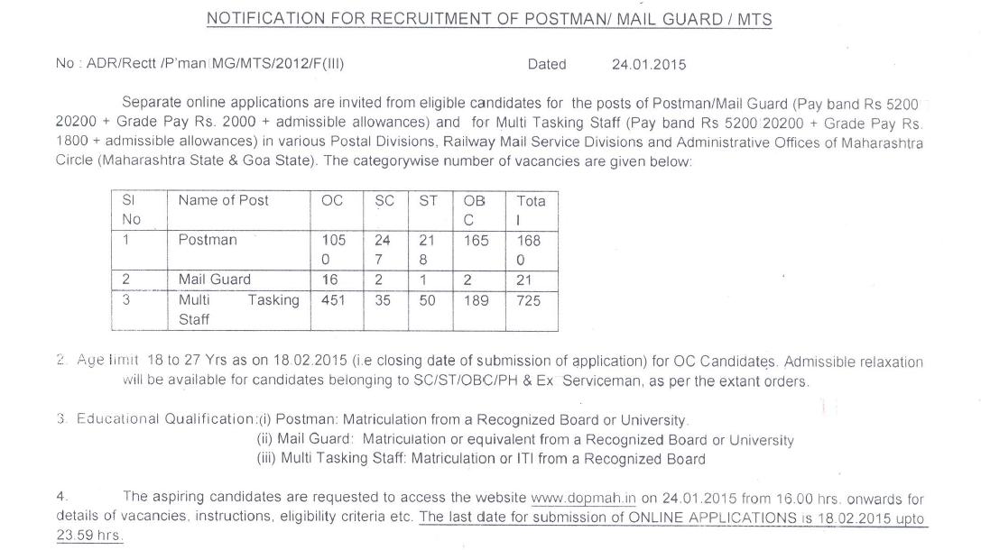 dopmah.in recruitment