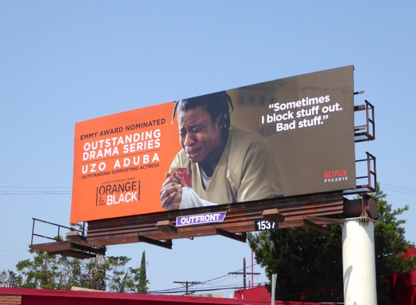 Orange is the New Black Emmy 2015 Crazy Eyes billboard