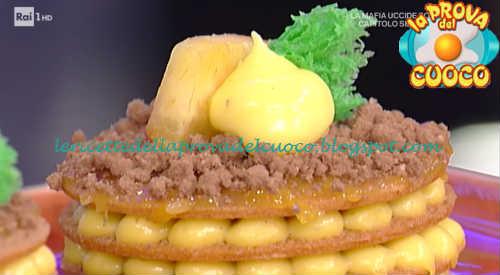 Prova del cuoco - Ingredienti e procedimento della ricetta Millefrolle alle pesche gialle e crema pasticcera di Sal De Riso