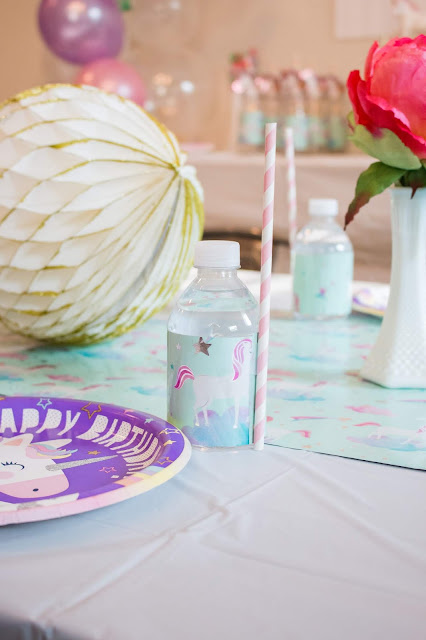 Place Setting at a Unicorn party