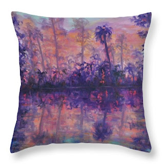 Nature throw pillow contemporary refecltions