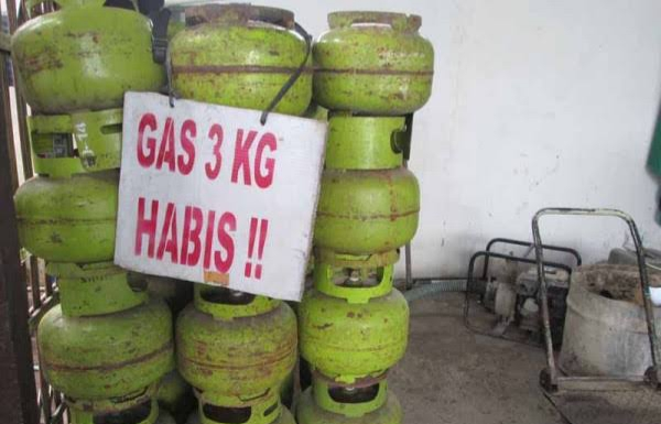 Sebagian wilayah Lampura, mengalami kelangkaan Gas 3kg.