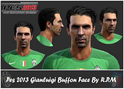Pes 2013 Gianluigi Buffon Face By R.P.M