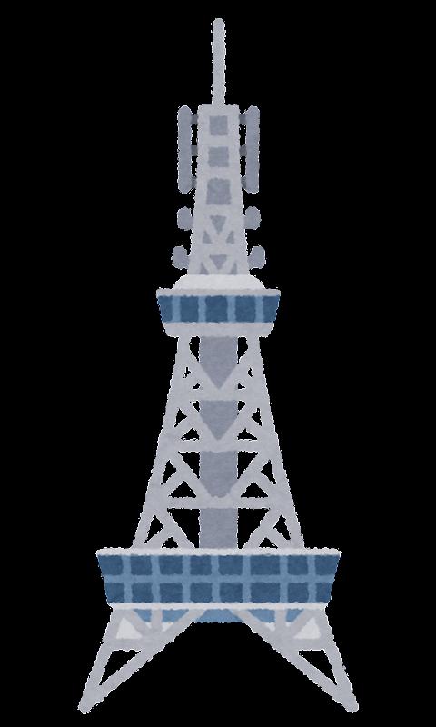 名古屋テレビ塔のイラスト かわいいフリー素材集 いらすとや
