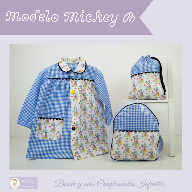 mchila baby guarderia cole mickey azul