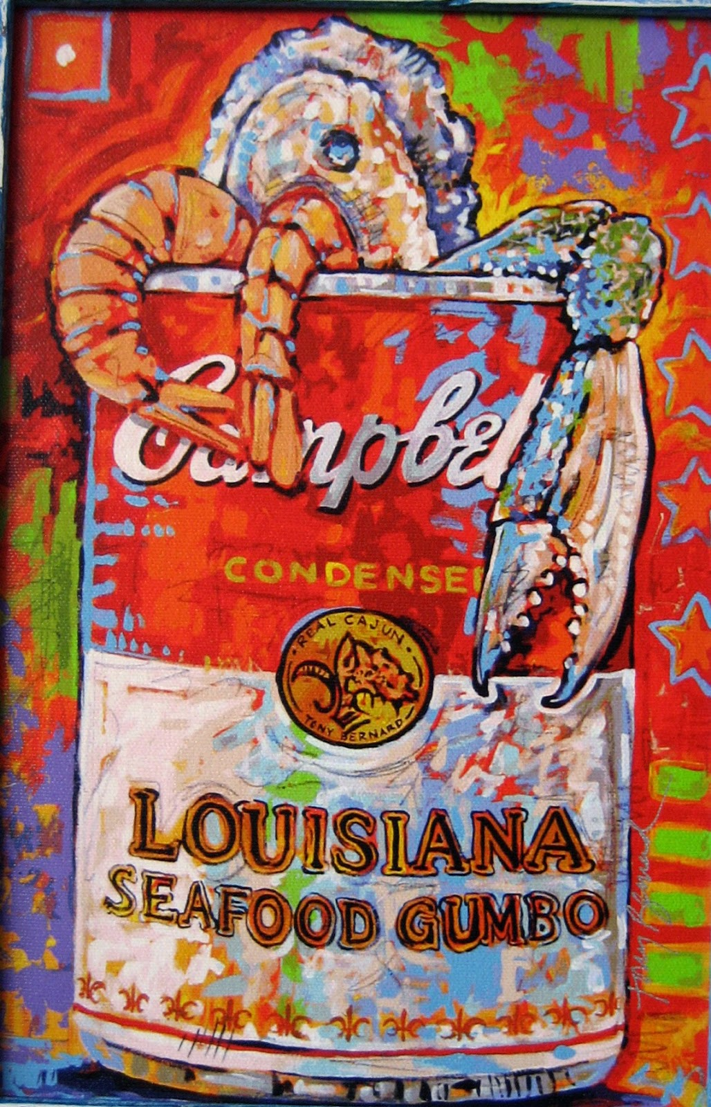 Living Rootless Cajun Pop Art Tony Bernard