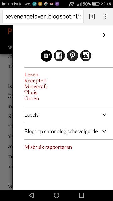 Screenshot van nieuw blogger thema 'opvallend'.