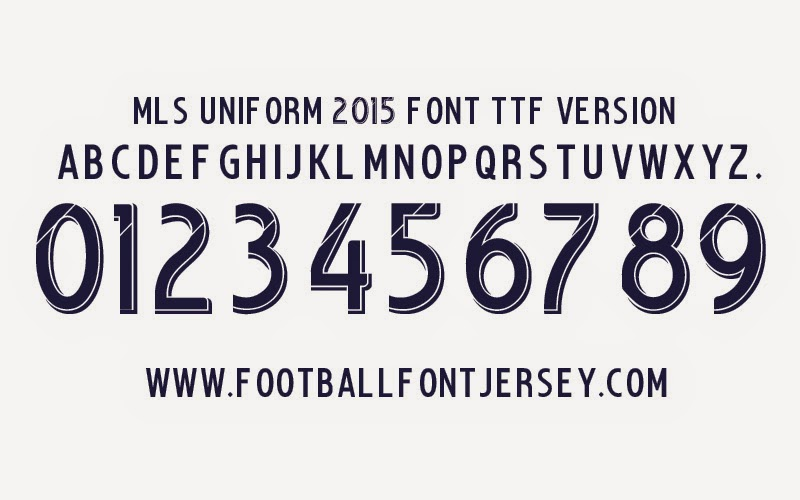 Football Font Download TTF and Vector: MLS Uniform 2014-2015