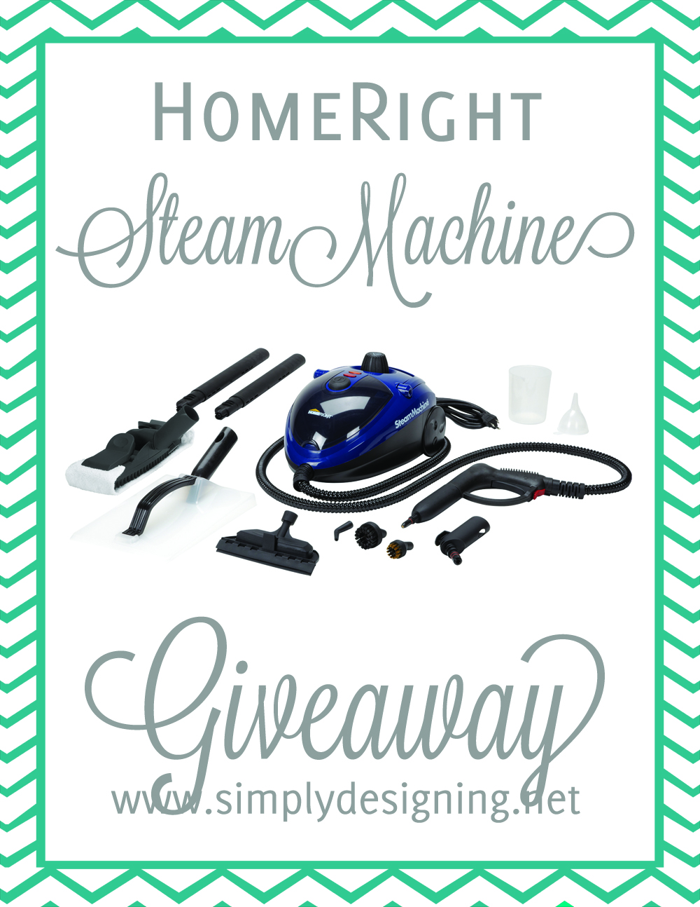 HomeRight Steam Machine Giveaway at Simply Designing | #giveaway #cleaning