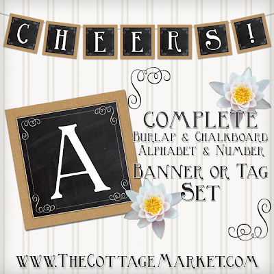 This burlap and chalkboard printable banner is perfect for any occasion.