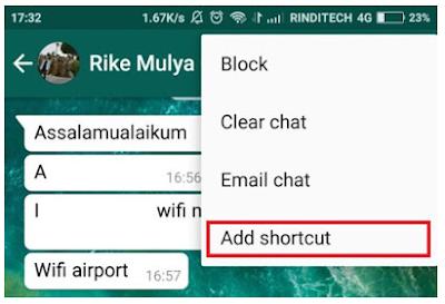 Cara Membuat Shortcut untuk Obrolan di Whatsapp dengan mudah