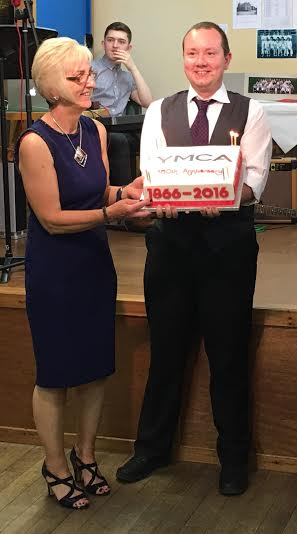 Broughty Ferry YMCA, Dundee Scotland  150th Birthday Cake 8 July 2016