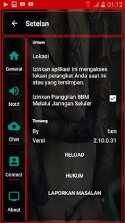 BBM Transparent Red Versi 2.10.0.31 APK