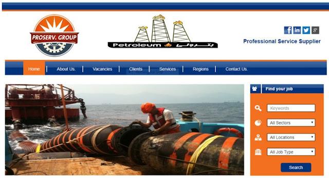 وظائف شركه بروسيرف ايجيبت للخدمات البتروليه   شركه بروسيرف ايجيبت من شركات الخدمات البتروليه التى تاسست عام 2008 وتحتل هذه الشركه مرتبه كبيره بين الشركات العامله فى القطاع البترولى فى مصر حيث انها تقدم الخدمات والصيانات البتروليه فى الصحراء وفى البحار كما تقوم بعمل الامدادات اللازمه والصيانات الخاصه بخطوط انابيب البترول