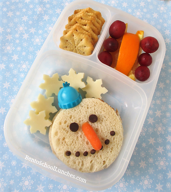 Snowman Winter Theme Lunch In Easylunchboxes.