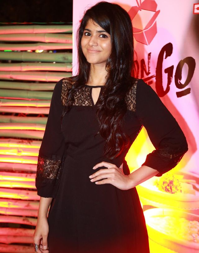Telugu Girl Megha Akash Stills In Black dress