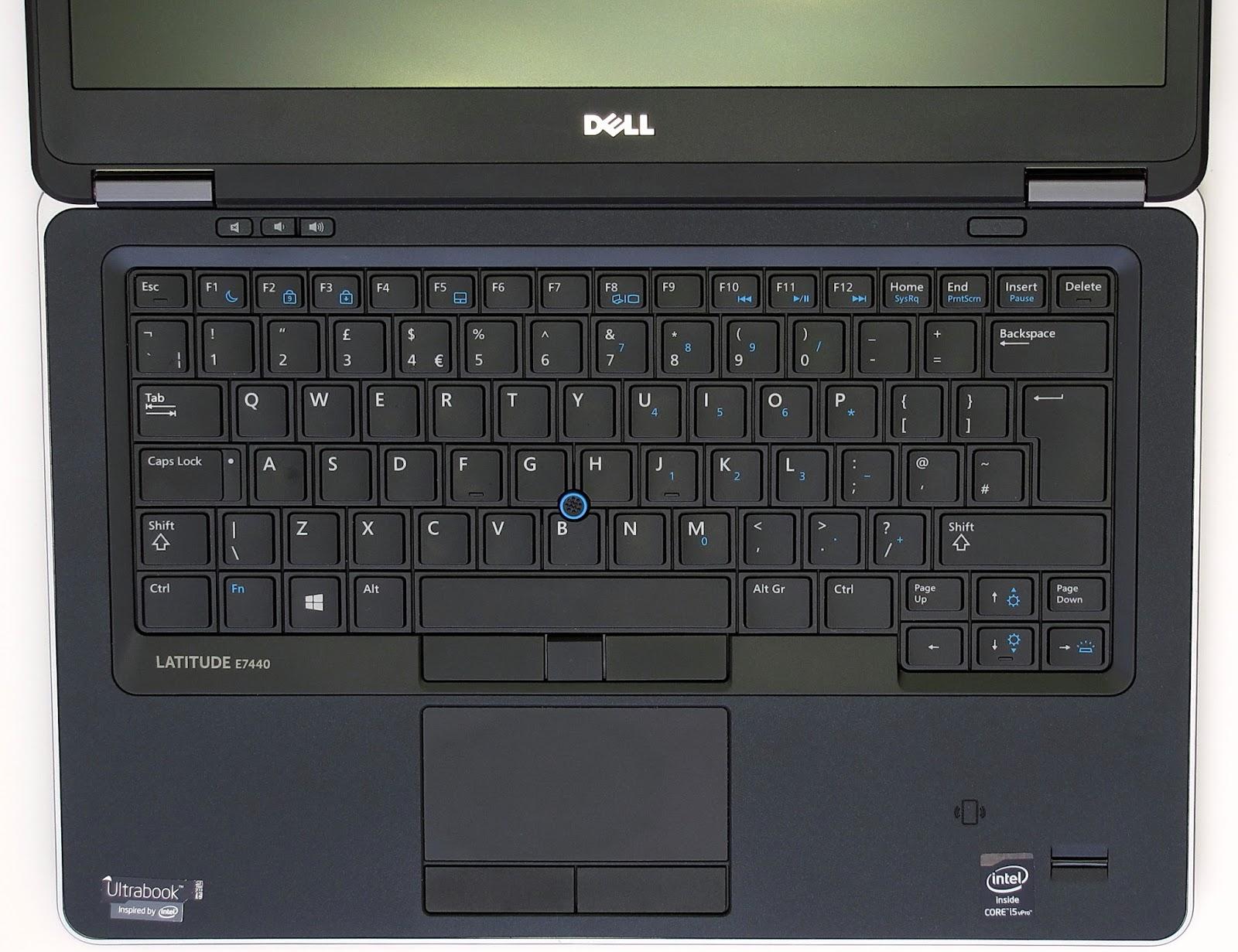 Dell Latitude E7440, tastiera con trackpoint