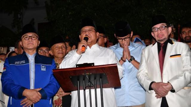 Tak Ada Elite Demokrat Saat Deklarasi Prabowo Subianto dan Sandiaga Uno