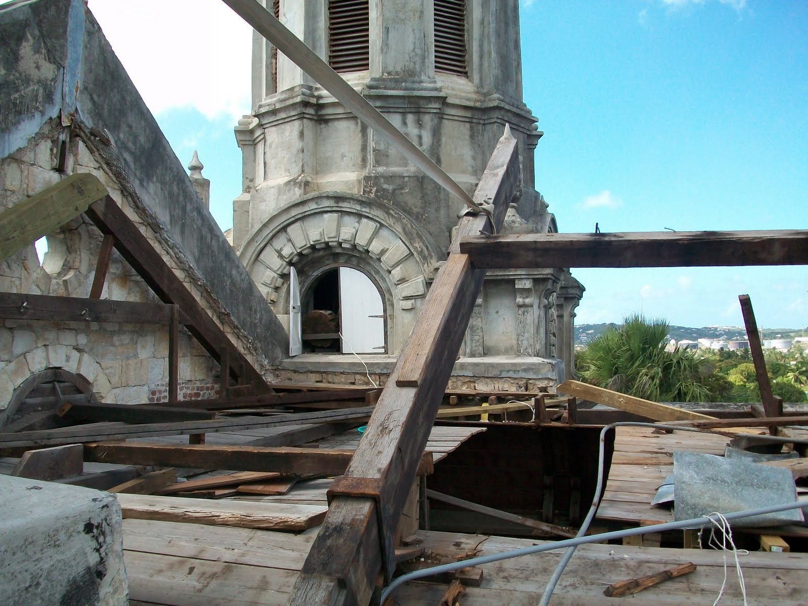 The Restoration Of St John S Cathedral Roof Truss Beam