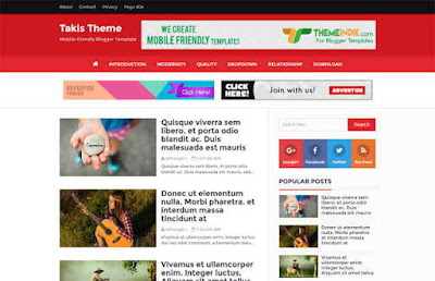 Takis Blogger Template Free Download