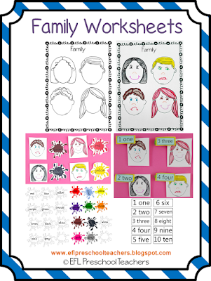 Worksheet 3 have students trace each mouth with a redcrayon